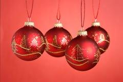 Baubles do Natal Fotos de Stock Royalty Free