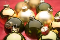 Baubles do Natal Fotografia de Stock Royalty Free