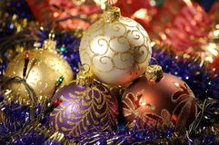 Baubles do Natal Imagem de Stock Royalty Free