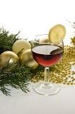 Baubles do Natal do ouro Imagens de Stock