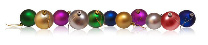 Baubles do Natal - horizontais Imagem de Stock Royalty Free
