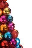 Baubles do Natal isolados Fotografia de Stock