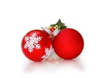 Baubles do Natal isolados com trajeto de grampeamento imagem de stock royalty free