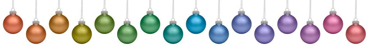 Baubles do Natal isolados no branco Imagens de Stock