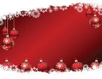 Baubles do Natal na neve Fotografia de Stock Royalty Free