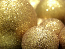 Baubles do ouro foto de stock royalty free