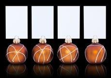Baubles e cartões do Natal Fotos de Stock Royalty Free