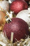 Baubles Garland Macro  Royalty Free Stock Photos