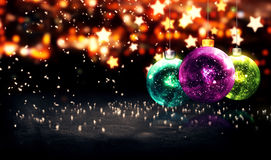 Baubles Gold Beautiful Bokeh Winter 3D Stock Photos