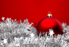 Baubles and Holly Royalty Free Stock Photography