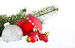 Baubles and Holly Royalty Free Stock Images