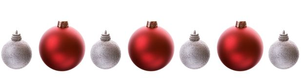 Baubles Line Royalty Free Stock Photos