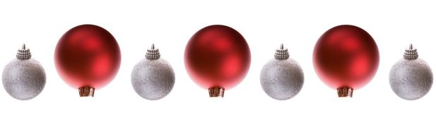 Baubles line Inverted Stock Photography