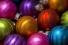 Baubles ou esferas do Natal Fotografia de Stock Royalty Free