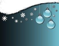 baubles płatki śniegu ilustracja wektor