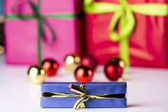 Baubles and presents Royalty Free Stock Images
