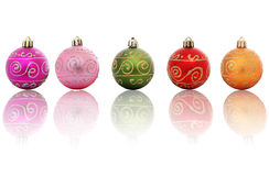 Baubles Reflected Royalty Free Stock Images