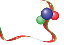 Baubles and Ribbon royalty free stock image