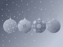 Baubles set Stock Photography