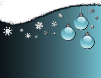 Baubles and snowflakes vector illustration