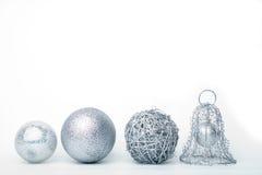 baubles srebra Fotografia Royalty Free