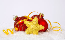 Baubles and star Royalty Free Stock Photography