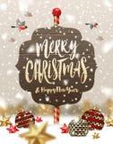 Christmas greeting illustration Stock Photography