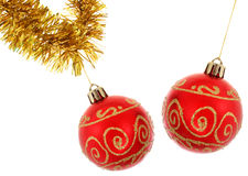 Baubles and Tinsel Royalty Free Stock Photo