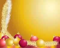Baubles and tinsel Royalty Free Stock Image