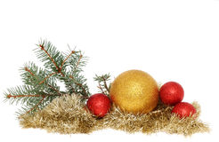 Baubles and tinsel Stock Photography
