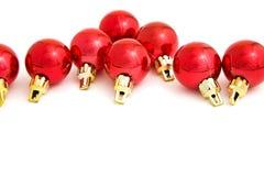 Baubles vermelhos Imagem de Stock