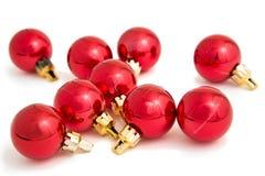 Baubles vermelhos Imagens de Stock Royalty Free