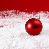 Baubles vermelhos do Natal Imagens de Stock Royalty Free