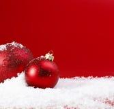 Baubles vermelhos do Natal Imagem de Stock