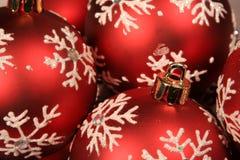 Baubles vermelhos Upclose Imagem de Stock