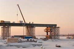 Baubrücke. Lizenzfreies Stockfoto