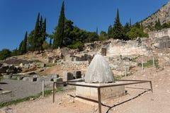 Bauchnabel der Welt, Delphi Lizenzfreies Stockfoto