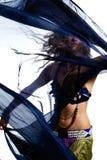 Bauchtänzerin im Kostüm Stockfotos