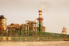 Baudetails der Chemiefabrik Stockbilder