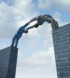 Bauen einer Brücke Lizenzfreies Stockbild