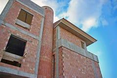 Bauen eines Hauses Lizenzfreie Stockfotos