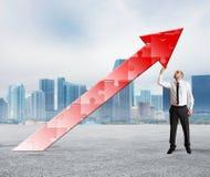 Bauen Sie auf und stützen Sie Erfolg Stockbilder