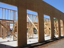 Bauen Sie ein Gebäude auf Stockfotos