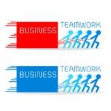 Bauen Sie Ihr Geschäft mit starker Teamwork auf lizenzfreie stockfotografie