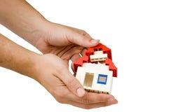 Bauen Sie Ihr Haus auf Stockbild