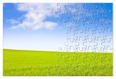 Bauen Sie Ihre Ruhe - Konzeptbild in der Puzzlespielform auf lizenzfreies stockfoto