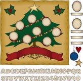 Bauen Sie Ihren eigenen Familien-Weihnachtsbaum auf Stockbild