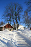 Bauernhäuser Stockfotografie
