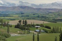 Bauernhöfe von Neuseeland Stockbild