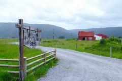 Bauernhaus B&B, Fox-Gletscher, Neuseeland Stockfoto